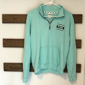 PINK 3/4 Zip Pullover Size S